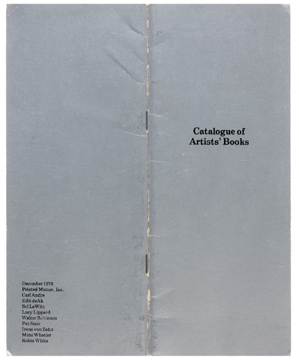 Early Catalogues of Artists' Books
