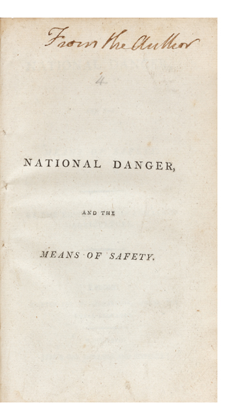 National Danger, and the Means of Safety. By the Editor of the Annals of Agriculture. Arthur YOUNG.