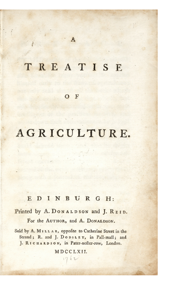 A Treatise of Agriculture. Adam DICKSON