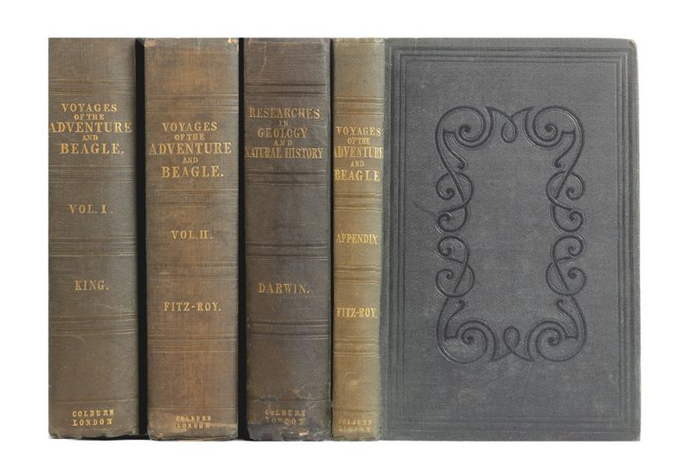 Narrative of the Surveying Voyages of His Majesty's Ships Adventure and Beagle, between the years 1826 and 1836, describing their Examination of the Southern Shores of South America, and the Beagle's Circumnavigation of the Globe. Charles R. DARWIN, P. Parker, KING, Robert FITZROY.