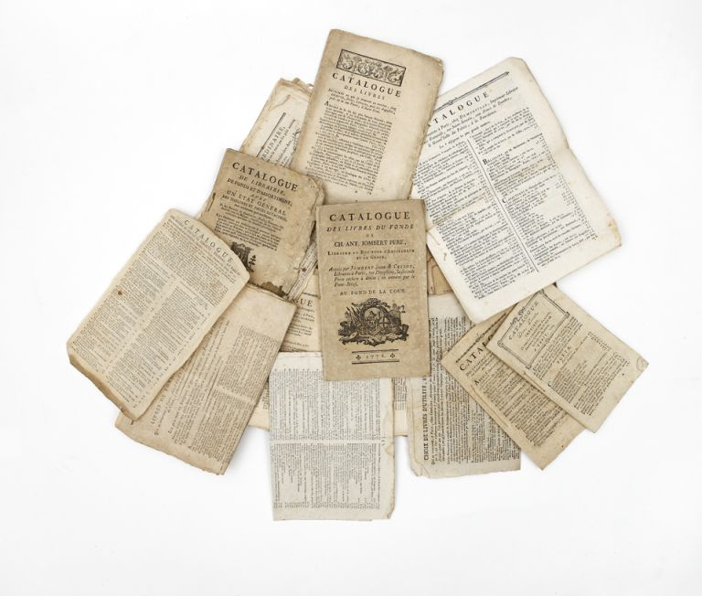 A collection of 24 catalogues, ca. 1769-99. FRENCH BOOKSELLERS' CATALOGUES.