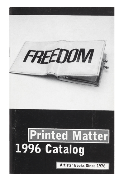 Books by Artists. Inc PRINTED MATTER.