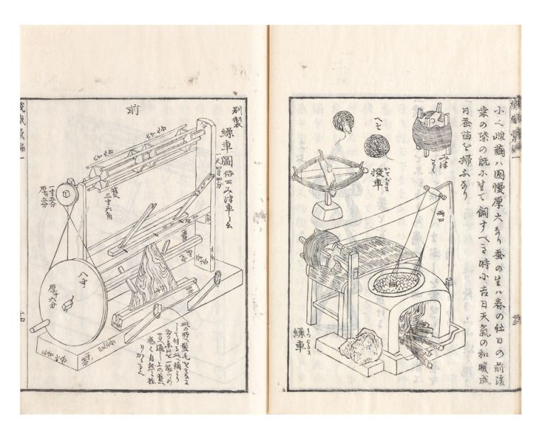 Kishoku ihen (or Hataori ihen) [trans.: Manual of Textile Technology during the Edo Period]. Masunari OZEKI, not OOZEKI.