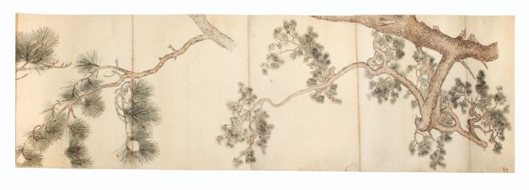 A finely executed picture scroll, measuring 374 x 14,900 mm., on mica paper, backed, ink &...