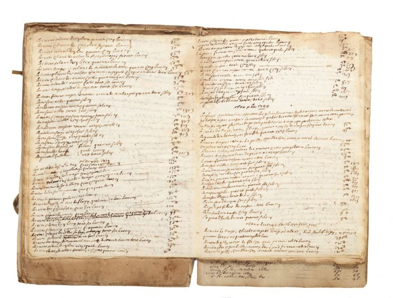 "Manuscript on paper entitled on upper cover: ""Taux des fruits du Baillage [sic] de Nuits depuis..."