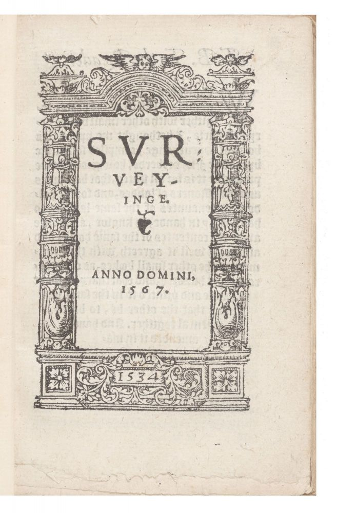 Surveyinge. Anno Domini, 1567. John or Anthony FITZHERBERT