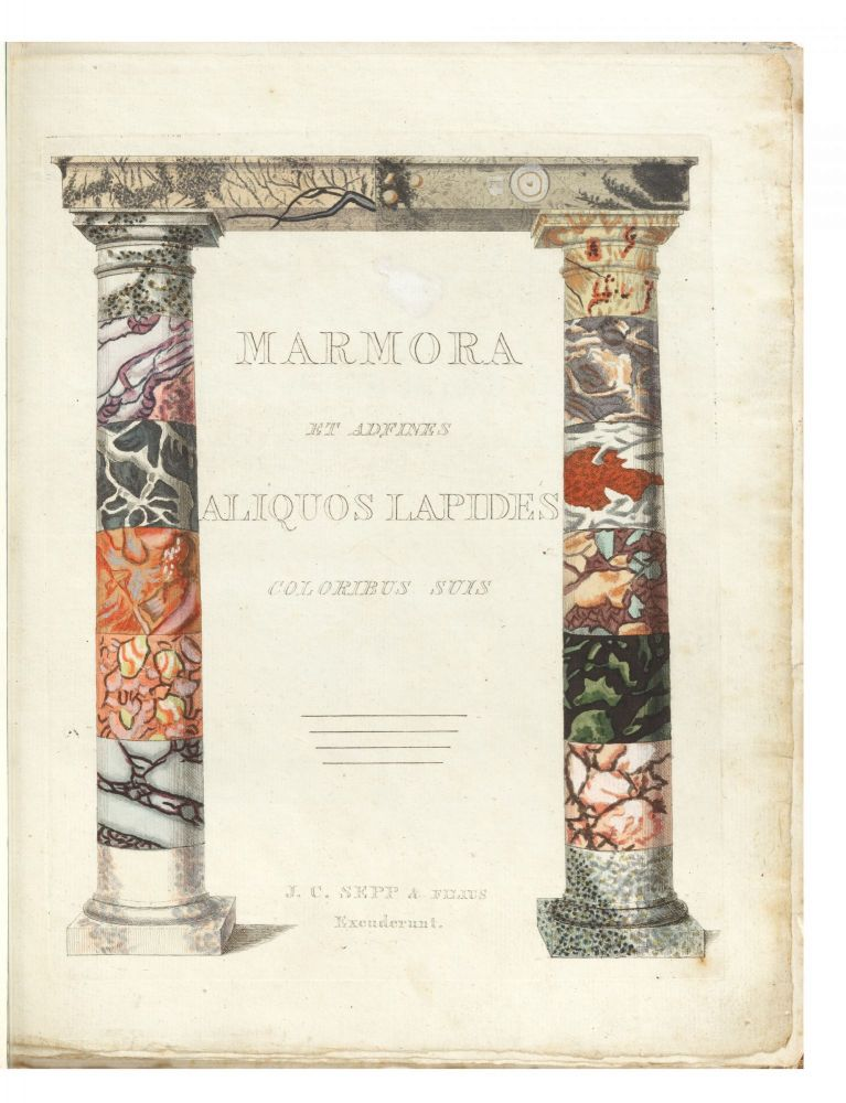 Marmora et adfines Lapides coloribus suis [English title: A Representation of Different Sort of Marble]. Adam Ludwig WIRSING.