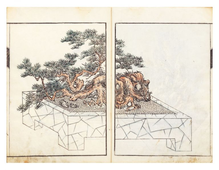 "Senkeiban [Illustrations of ""Tray"" Garden Landscapes]. Buzen SUMIE, artists Aizan, or SUMINOE"