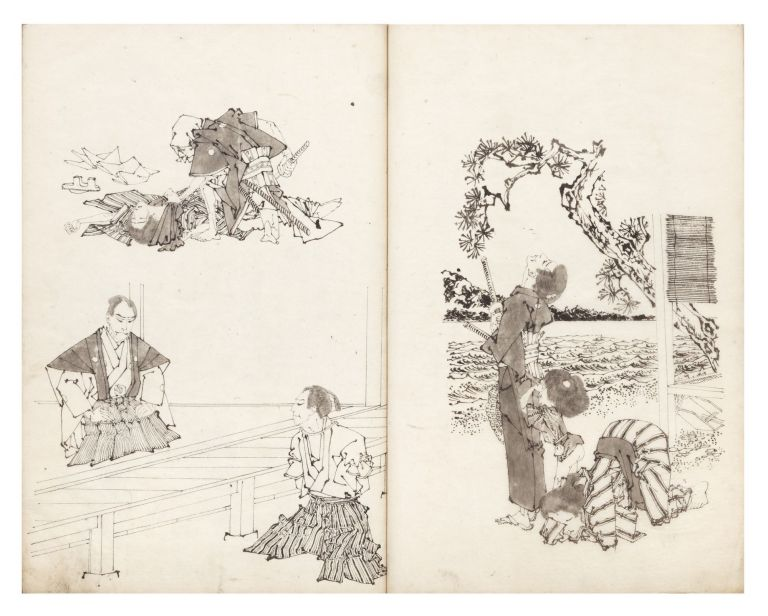 Sketchbook with 99 dramatic & highly finished hand-drawn studies by the artist. Toshinobu YAMAZAKI, artist.
