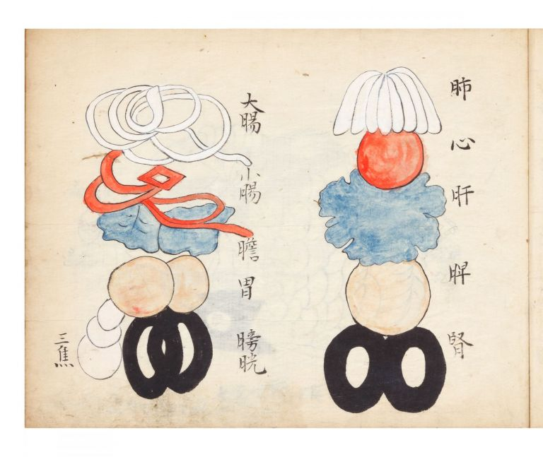 "Manuscript on paper entitled on label on upper cover: ""Shinkyu hyaku mondo [with symbol for..."