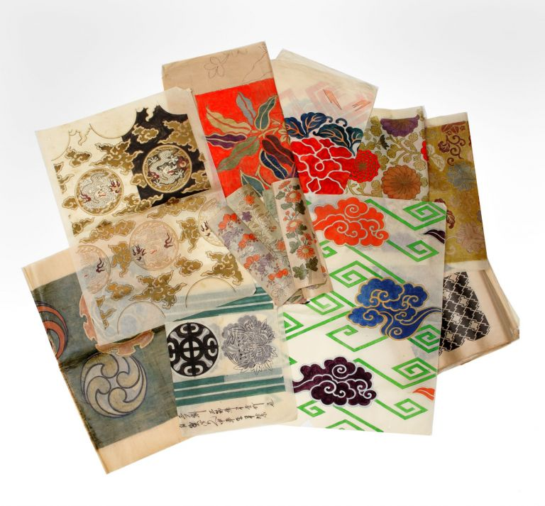 Archive of more than 1000 sheets, mainly tissue paper of various sizes, of original drawings,...
