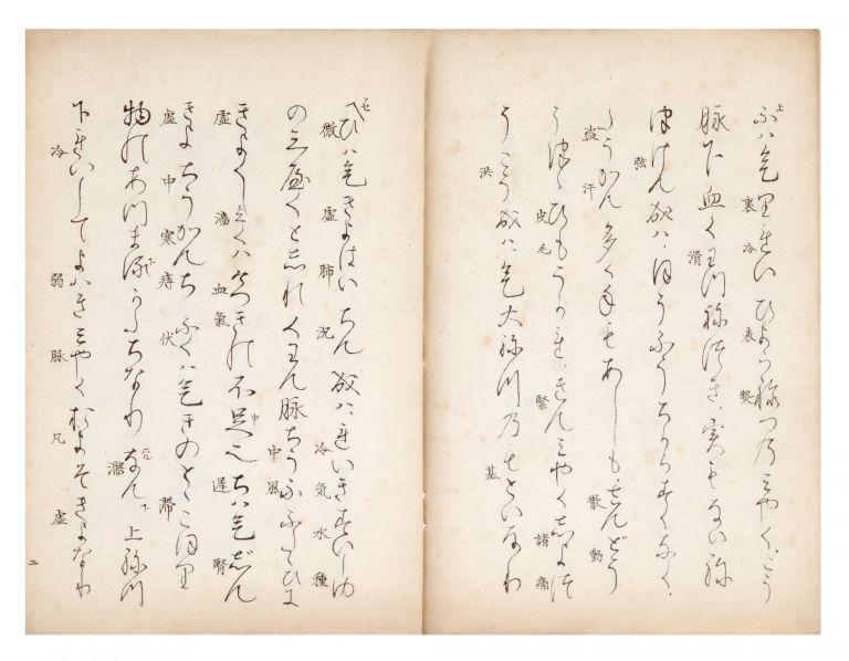 "Manuscript on paper, entitled in manuscript on first leaf ""Utaibon Jushikeimyaku ron"" (""The..."