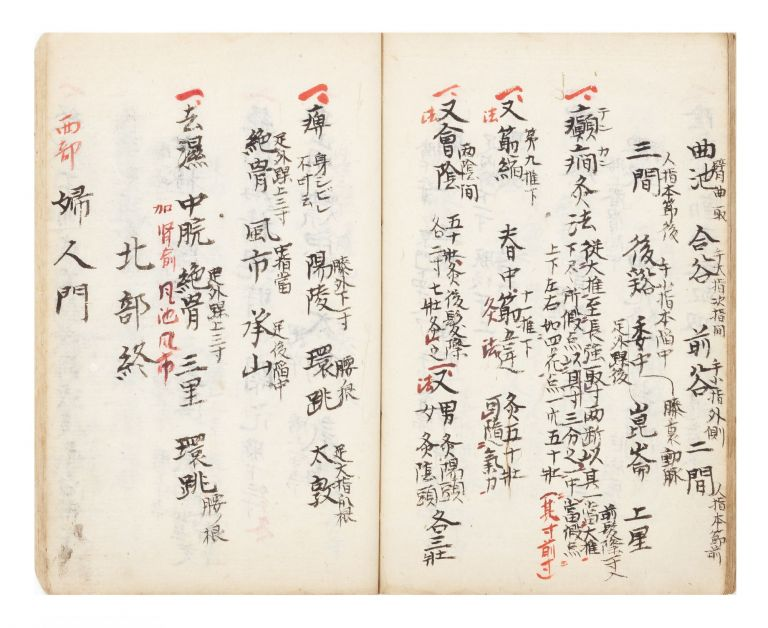 "Manuscript on paper, entitled on first leaf ""Shinkyu goun sanjutsu sho"" (""Five Aspects and Three Techniques of Acupuncture and Moxibustion""). ACUPUNCTURE, MOXIBUSTION."