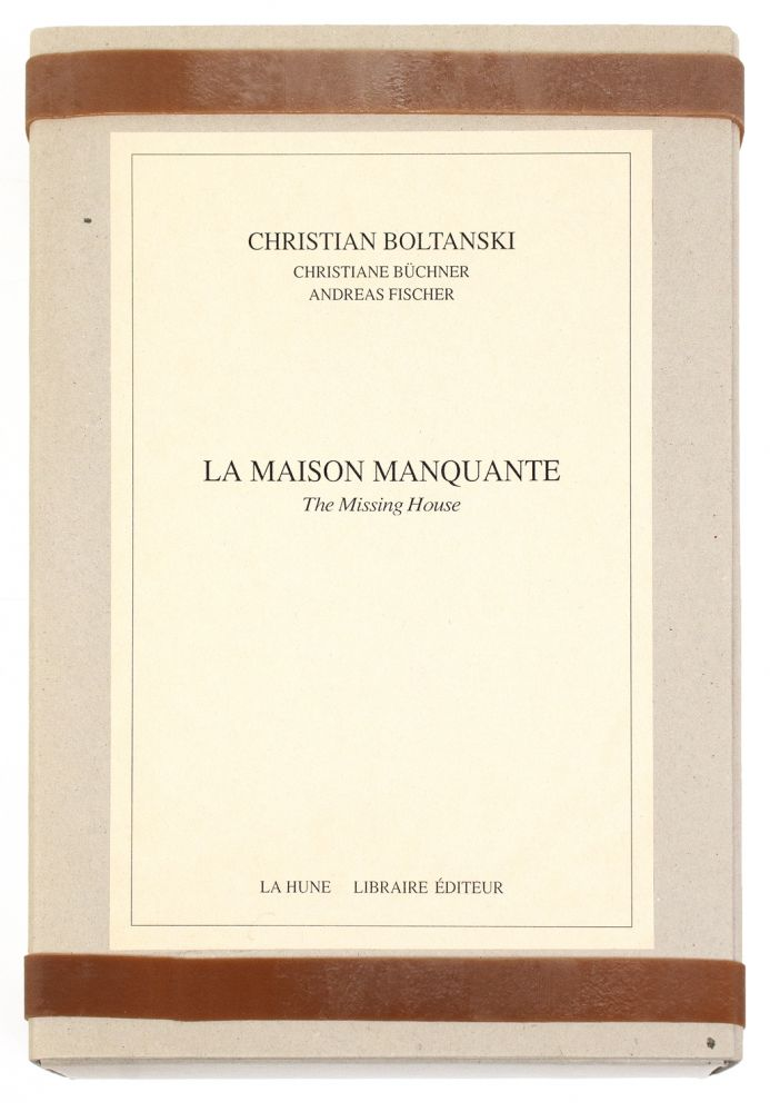 [From title of archival box]: La Maison Manquante, The Missing House. Christian BOLTANSKI, artist.