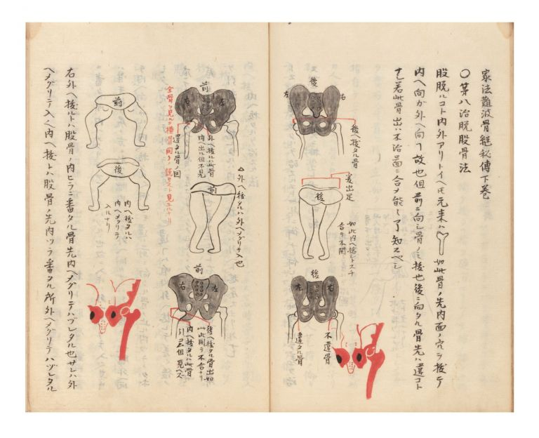 "Finely illustrated manuscript on paper entitled on label on upper wrapper ""Naniwa [or] Nanba..."
