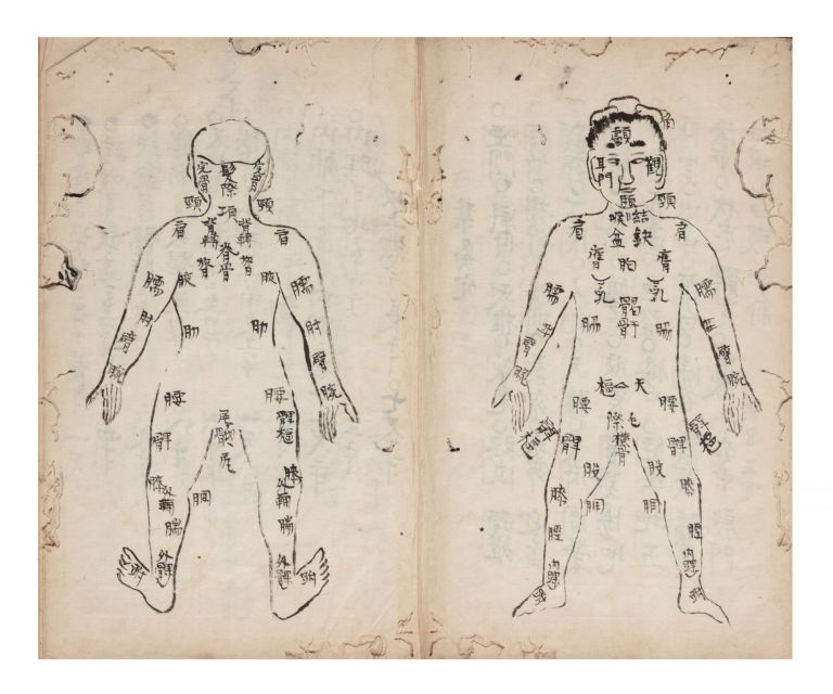 """Manuscript on paper, entitled on the label of the upper cover """"Kyuketsu tekiyo"""" [""""Acupuncture Pressure Points, Suitable & Precise Usage""""]. ACUPUNCTURE MANUAL."""
