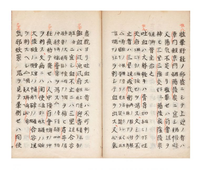 "Manuscript on paper, entitled on upper cover ""Shinpo hiden"" [""Secret of Acupuncture Methods..."
