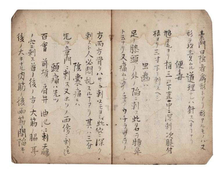 "Manuscript on paper, entitled on upper cover ""Shinji hiroku"" [""List of Secret Treatments by..."
