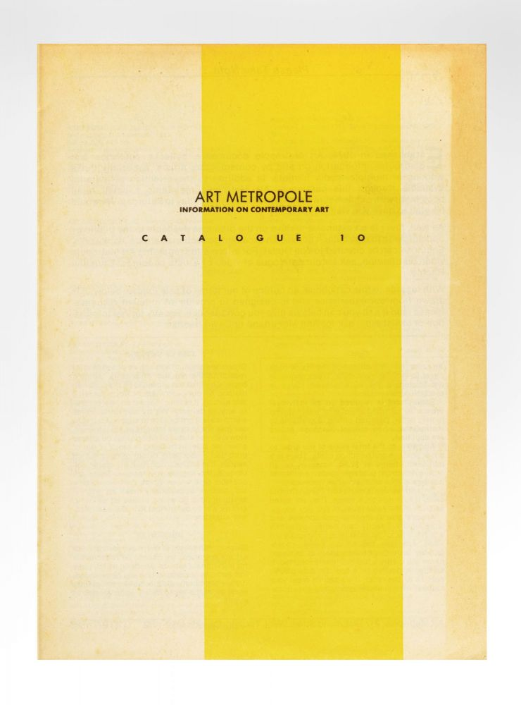 Catalogue 10. bookseller ART METROPOLE.