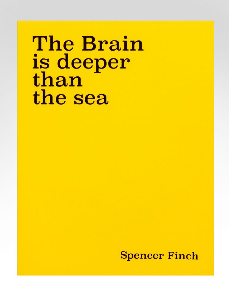 The Brain is deeper than the sea. Spencer FINCH