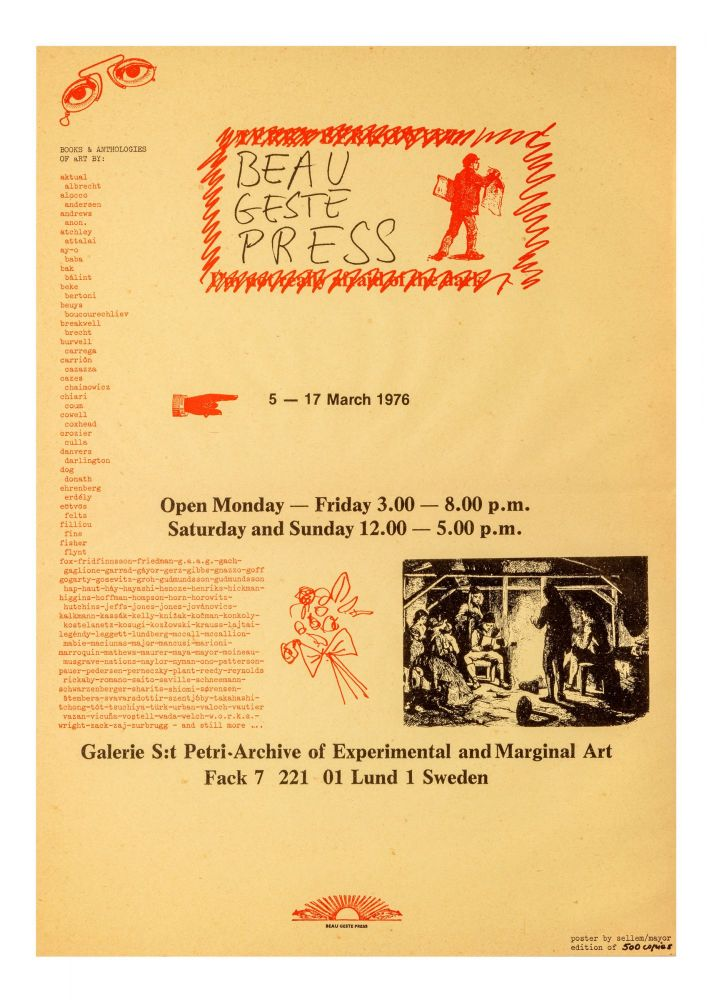 Books and Anthologies of Art by:… 5 - 17 March 1976. Galerie S:t Petri - Archive of...
