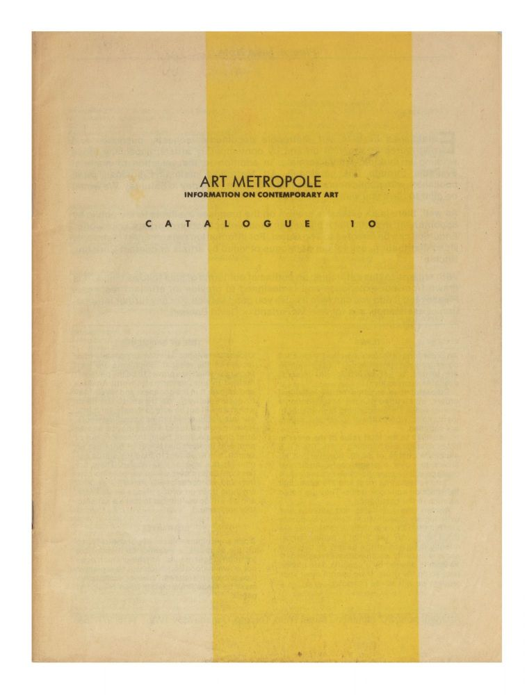 Catalogue 10. bookseller ART METROPOLE