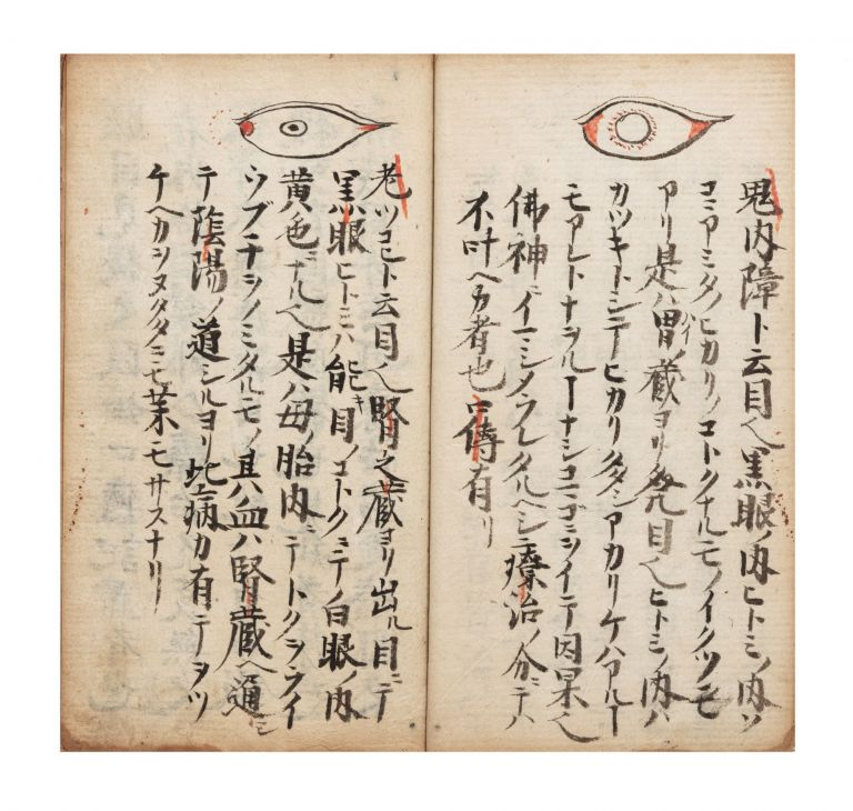 "Manuscript on paper, entitled in manuscript on label on upper cover ""Me [or] moku den ichi ryu"" [""Information on Ophthalmology passed down from the Iesato Ichi ryu school""]. OPHTHALMOLOGY."