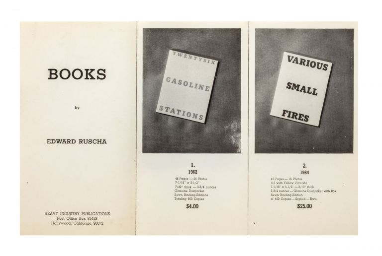 From first page]: Books by Edward Ruscha. Edward RUSCHA