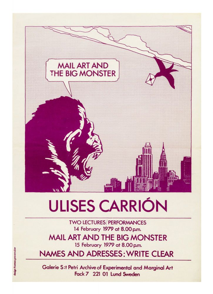 Mail Art and the Big Monster. Ulises CARRION