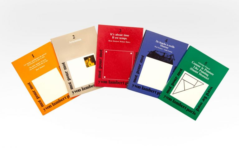 A scarce complete set of the five issues of Yvon Lambert's journal (nos. 1-5). MOT POUR MOT / WORD FOR WORD.