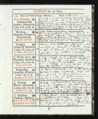 The manuscript diaries of four members of the prominent Bavarian family Chlingensberg: Joseph Maria Bernhard von Chlingensberg (1749-1811), his son Joseph von Chlingensberg auf Berg (1777-1830), the younger Joseph's wife Karoline von Chlingensberg, née Baroness von Asch (1789-1826), and their son Joseph von Chlingensberg (1808-37). These diaries, present here in 49 volumes and covering a 62-year period (1769-1830), provide an intimate account of the lives of a socially prominent family, the men's professional lives as important lawyers, daily matters, and, above all, the rather shocking sexual life of Joseph von Chlingensberg auf Berg. These diaries have received no scholarly attention and remain unpublished. Our description below suggests the rich possibilities which exist in these diaries.