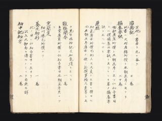 "Manuscript on rice paper entitled ""Honcho ika koseki ko"" [""Studies on old and rare Japanese Medical Literature""]."
