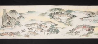 "Two finely illustrated scrolls, with title label on both scrolls ""Karaku kakyo ichibo..."