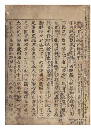 Title at beginning of text: Jushikei Hakki [trans.: Expression of the Fourteen Meridians]; [alternate title on first leaf of first Preface]: Shinkan Jushikeiraku Hakki [trans.: Newly Edited Expression of the Fourteen Meridians].