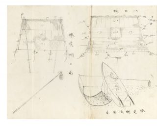 "Manuscript on paper entitled on title slip on upper cover ""Amiryo hen"" [trans.: ""Fishing with Nets""]."