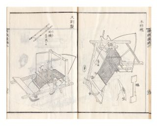 Kishoku ihen (or Hataori ihen) [trans.: Manual of Textile Technology during the Edo Period].