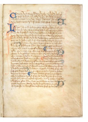 Decorated manuscript on vellum, in Anglo-Norman French, of Walter of Henley's Hosbondrye,...