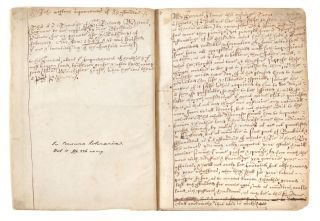 Manuscript on paper of an early version of Weston's highly important A Discours of...