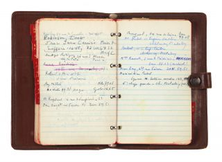 A collection of the personal effects of the celebrated poet who was one of the founding members of French Surrealism, including his leather agenda, Bibliothèque nationale reader's card, military mobilization ID card, etc., as well as the notarized inventory of his belongings at the time of his death (books, artworks, ceramics, etc.) and typewritten correspondence between those responsible for his estate and its disposition.