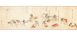 "Scroll on paper (7140 x 275 mm.), entitled at beginning (in trans.): ""The Process of..."