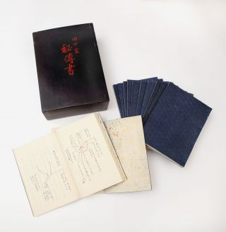 "Collection of manuscripts on equine medicine, entitled on the upper cover of the fine lacquer box containing the manuscripts: ""Tanaka ke hidensho"" [""Secret Writings of the Tanaka Family""]."