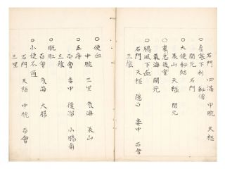 "Manuscript on paper, entitled in manuscript on label on upper covers ""Shinho hiden goun..."