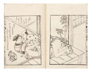 A very rare shunga entitled Shokanron [or] Shoganron [The Theory of Lascivious Connoisseurship of...