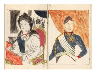 """Manuscript on Japanese paper, complete, entitled """"Kankai Ibun"""" [""""Observation in Foreign Countries; the Story of the Travels of Four Shipwrecked Japanese, as told to Gentaku Otsuki""""]."""