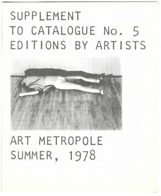 [From upper cover]: Catalogue No. 5 – Fall 1977: Featuring European Books by Artists.