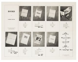 From upper left compartment]: Books by Edward Ruscha