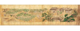 Two fine & luxuriously painted scrolls (260 x 4900 mm.; 260 x 4930 mm.) on mica paper,...