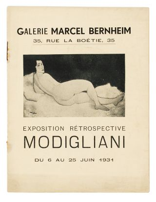 From the upper cover]: Exposition Rétrospective Modigliani, du 6 au 25 Juin 1931