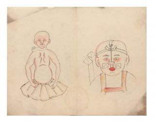 "Finely illustrated manuscript on paper, entitled on upper wrapper ""Seikotsu Hotai no..."
