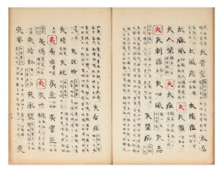 """Manuscript on paper, entitled on labels of upper covers """"Igaku jirin"""" [""""Dictionary & Vocabulary of Medical & Herbal Terms"""" [or] """"Forest of Words""""]."""
